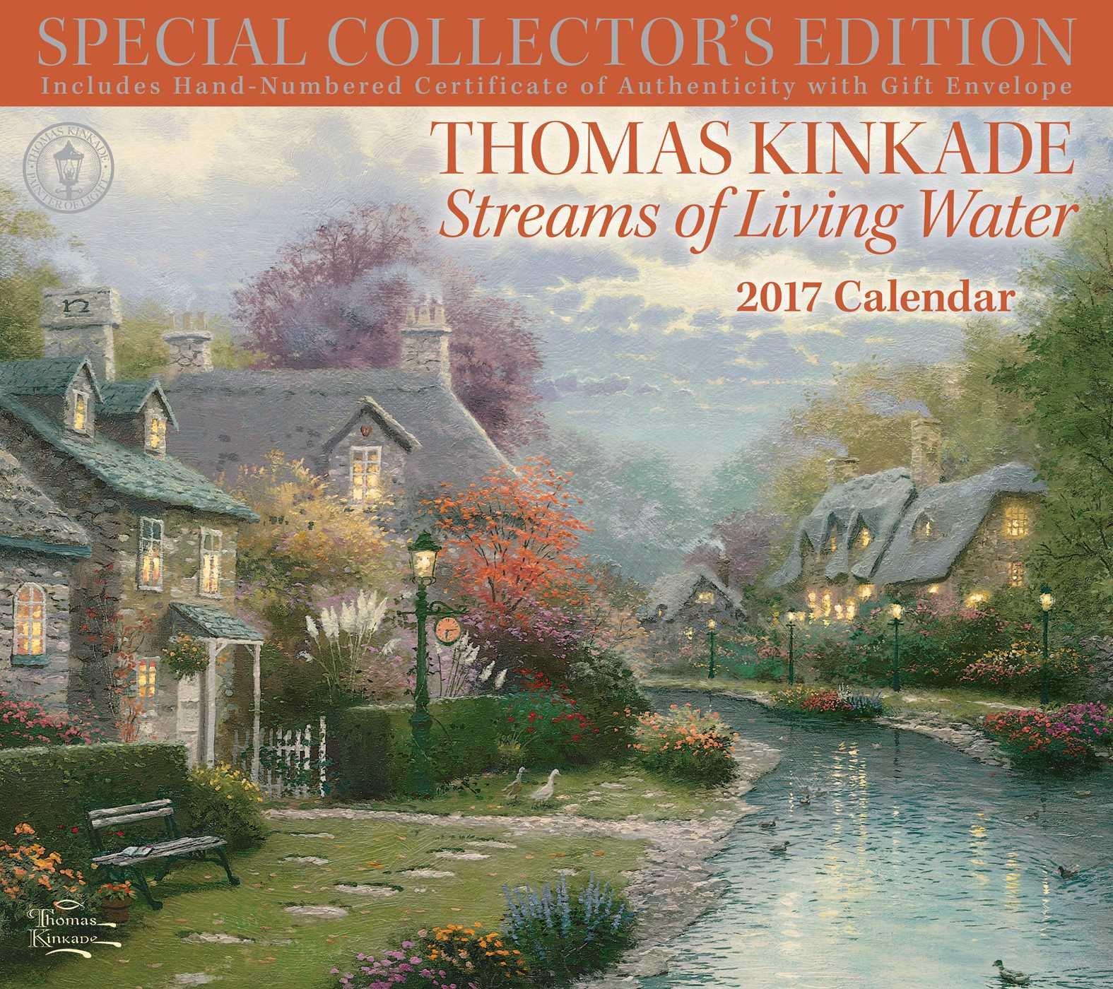 thomas kinkade special collectors edition 2017 deluxe wall calendar