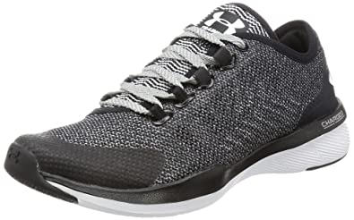 pretty nice 403ab eb84c Under Armour Women s UA Charged Push TR Hypersplice Black Overcast  Gray White Athletic Shoe