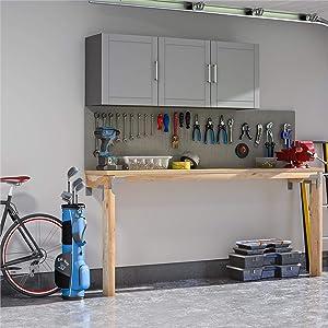 """SystemBuild Callahan 54"""" Wall Cabinet, Gray"""