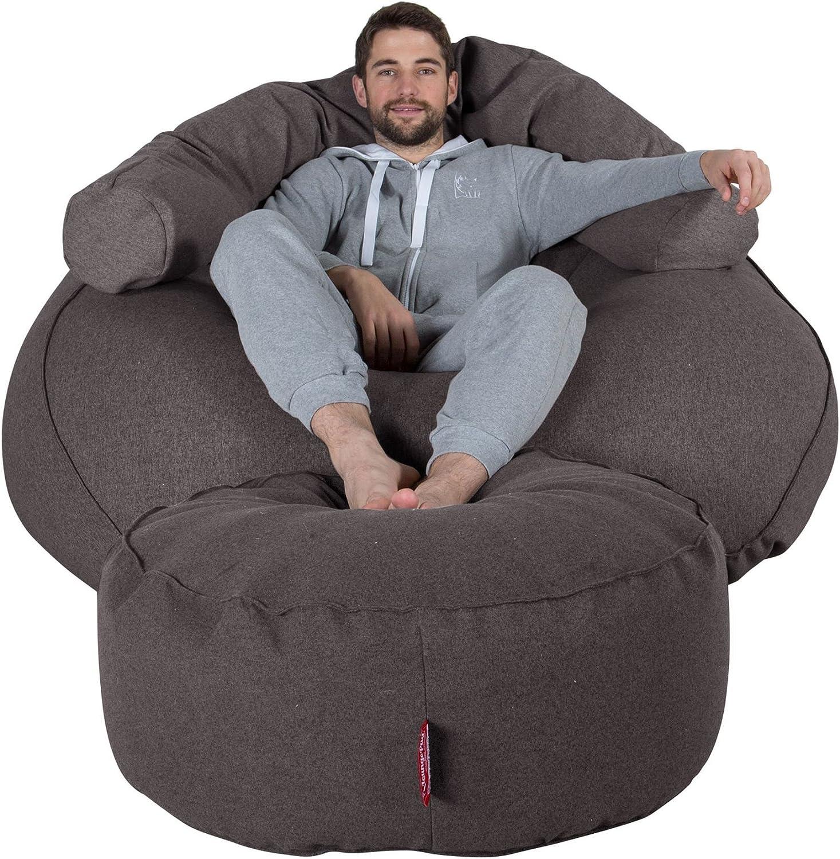 Lounge Pug/® Sitzpouf Interalli Wolle Grau Sitzhocker Pouf