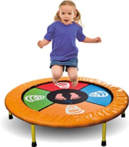Dimple Mini Trampoline, Arcade Style Dance Game, Jump and Play Electronic Musical Trampoline, Connects To Smartphone, Exercise Trampoline for Indoor/Garden/Workout Cardio Compatible with Bluetooth