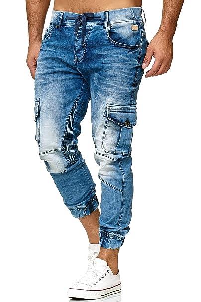 Redbridge Hombres Vaquero Pantalones con Pretina Casuales Tramo Denim Jeans
