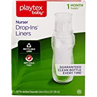 Playtex Baby Nurser Drop-Ins Baby Bottle Disposable Liners, Closer to Breastfeeding, 8 Ounce 150 Count