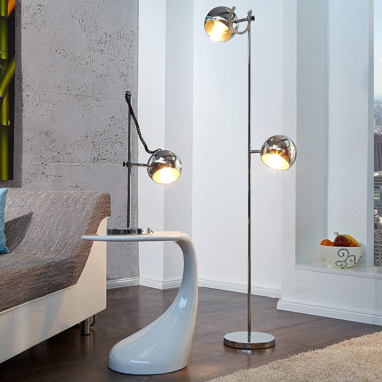 Stylische Design Stehlampe Bubble Stehleuchte In Chrom Amazon De