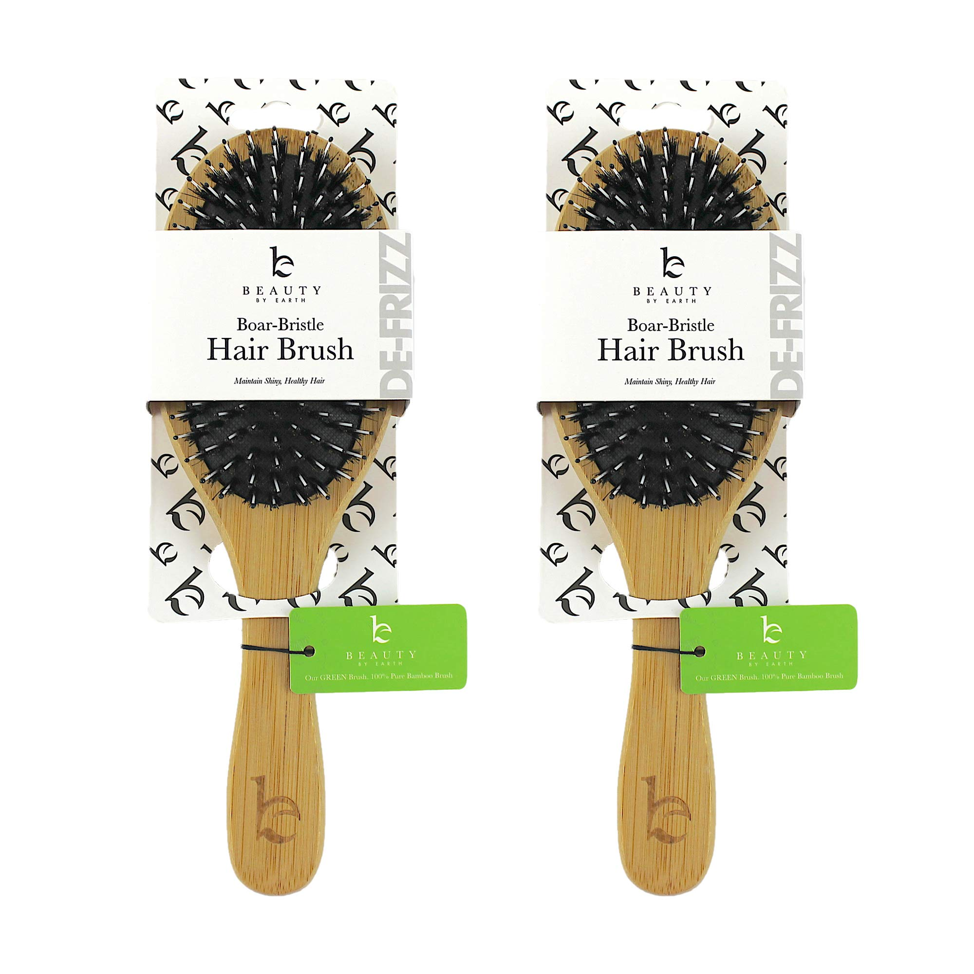 Boar Bristle Hair Brush - Wooden Bamboo Brush, Hairbrush, Boar Bristle Brush, Hair Brushes for Women, Mens Hair Brush, Paddle Brush, Curly Hair Brush for Thick Hair & Anti Static Detangling, Best Gift