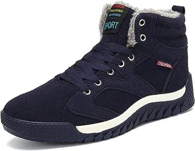 SAGUARO Hombre Botines Zapatos Botas De Nieve Invierno Cortas Fur Aire Libre Boots