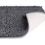 Vdomus バスマット 足ふきマット 速乾 吸水 抗菌 ふわふわ 丸洗い 風呂 浴室 台所 キッチン 50x80cm (グレー)