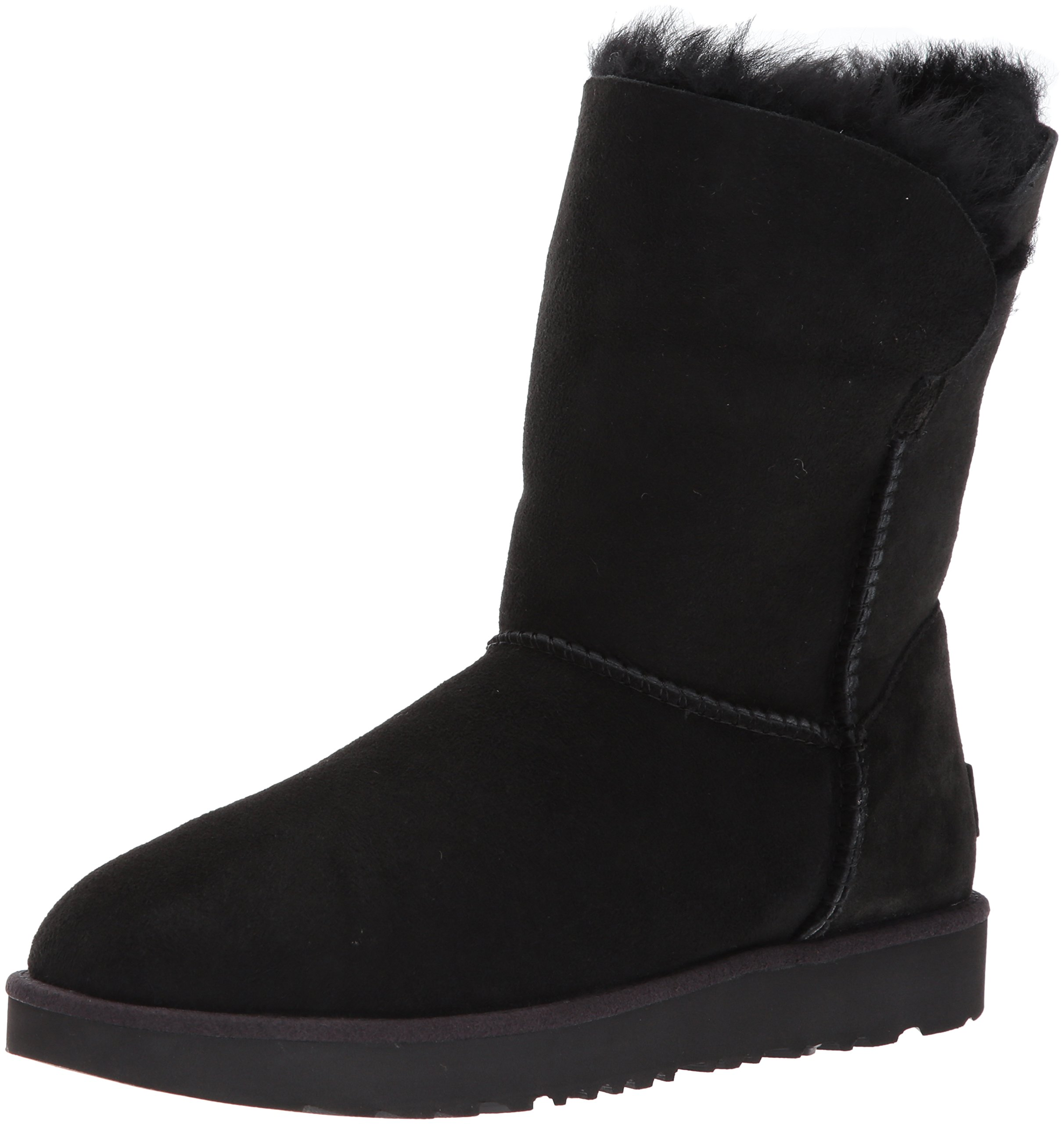 UGG Women's Classic Cuff Short Winter Boot, Black, 5 M US