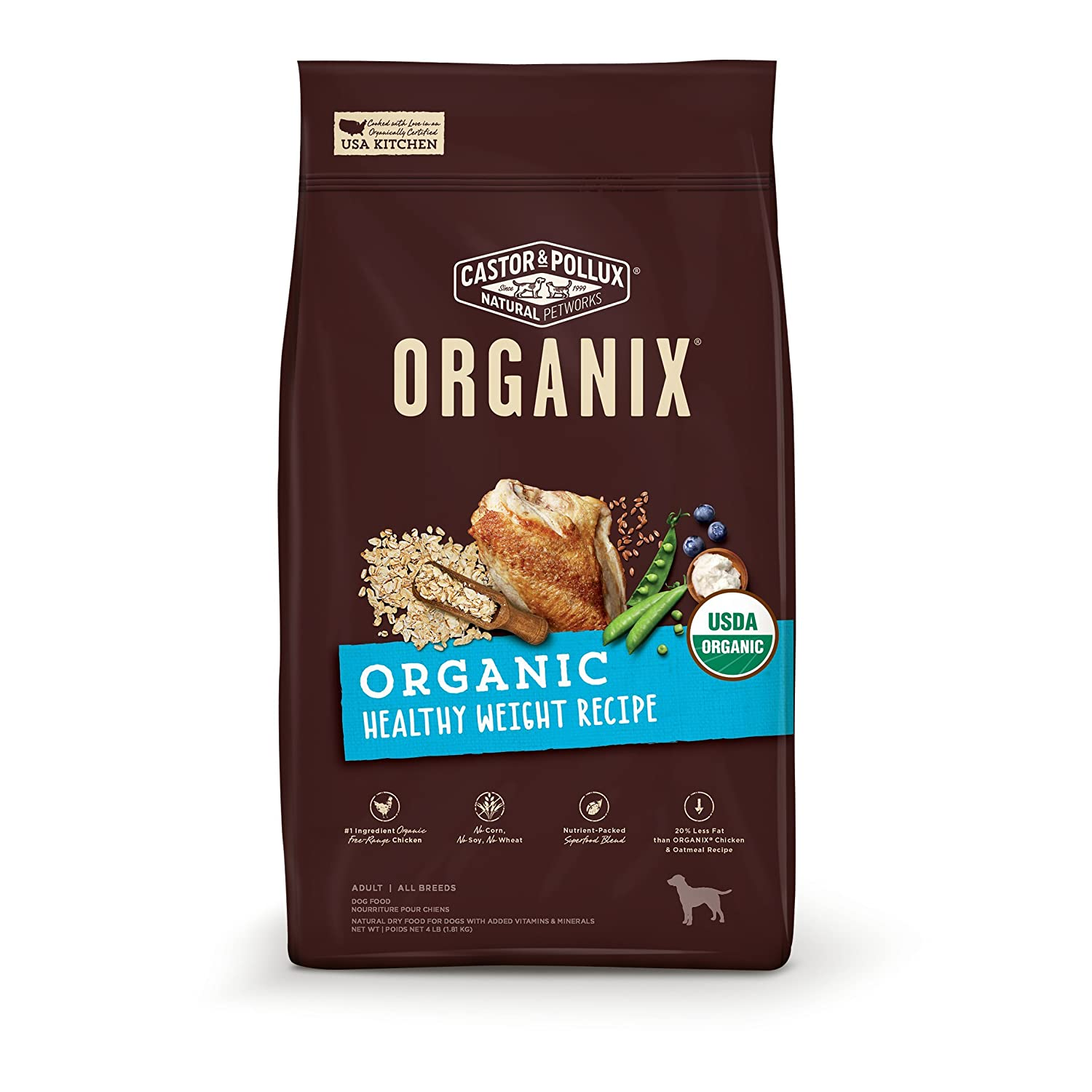 Organic Healthy Weight 4 Pound Organic Healthy Weight 4 Pound Castor & Pollux Organix Organic Healthy Weight Recipe, 4lbs