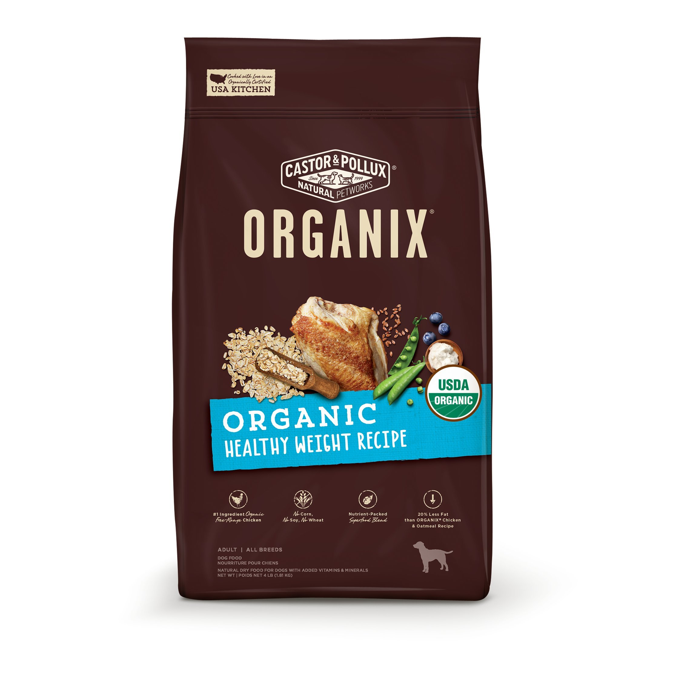 Castor & Pollux Organix Organic Healthy Weight Recipe, 10Lb by Castor & Pollux