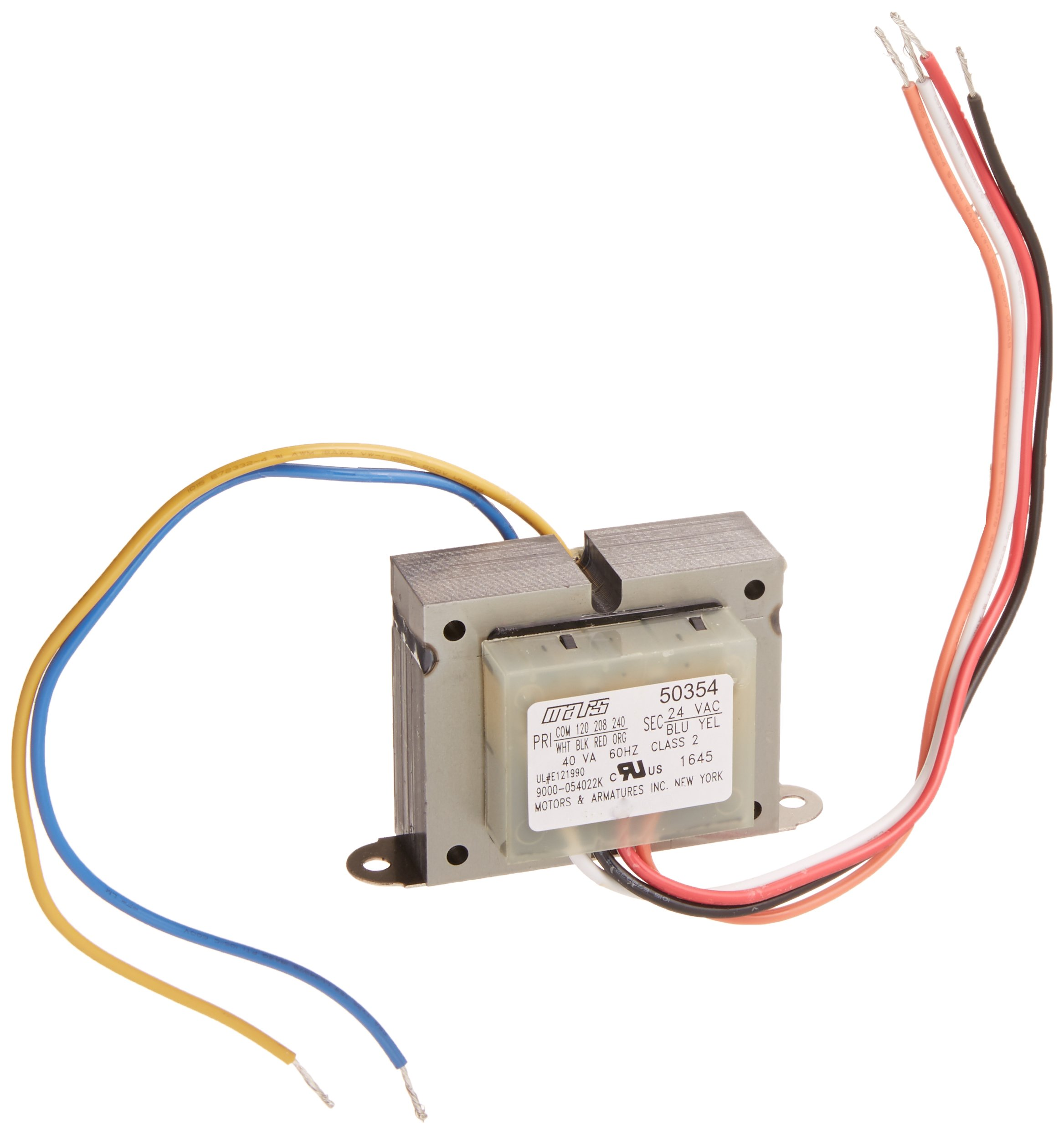 Mars Motors Armatures 50354 40va 120 208 240v To 24v Industrial Wiring Diagram Transformer Home Improvement