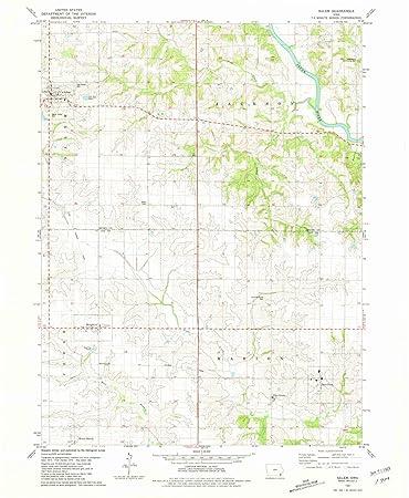 Salem Iowa Map.Amazon Com Iowa Maps 1981 Salem Ia Usgs Historical Topographic