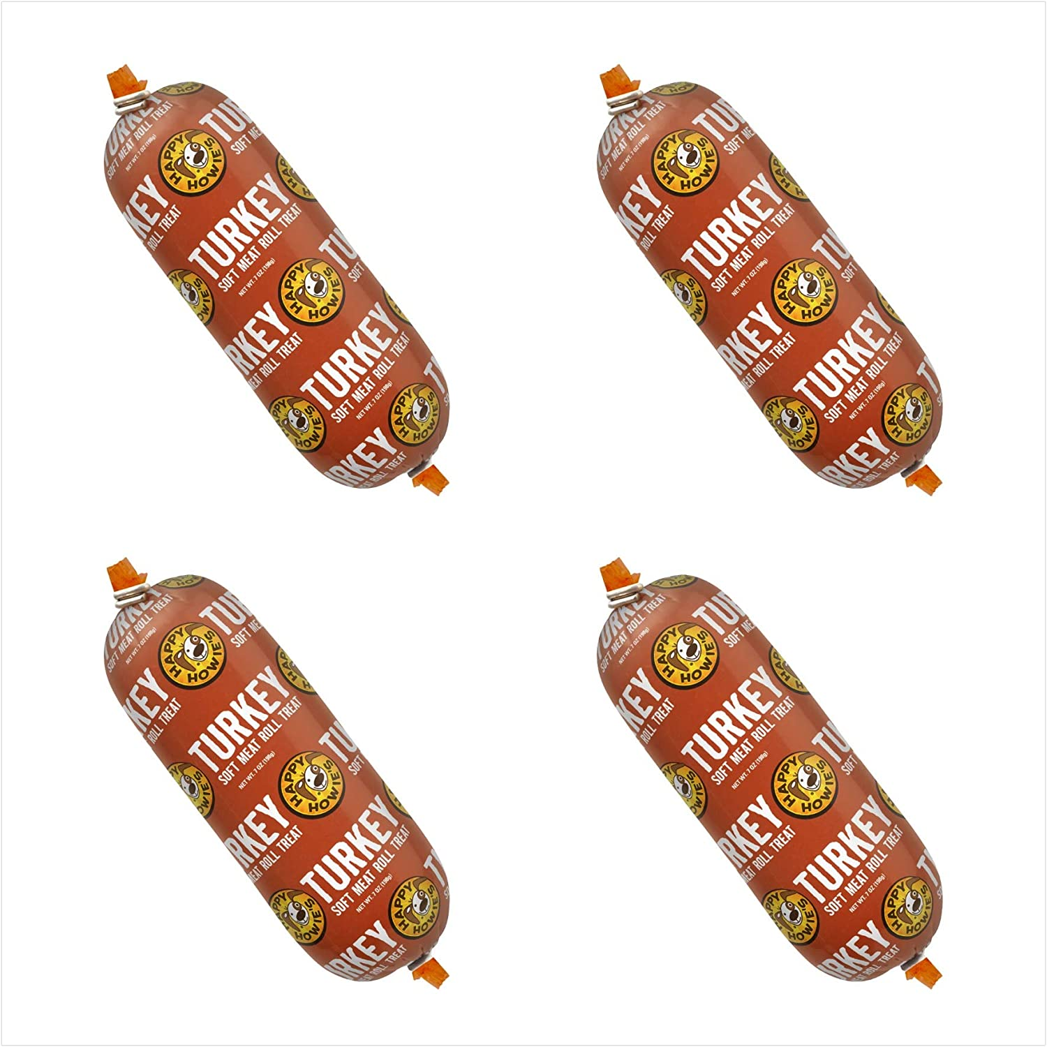 Happy Howie's Premium Turkey Soft Meat Roll 12 Oz 4 Pack (New)