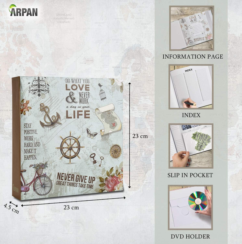 Travel ARPAN Photo Album Slip In Case Memo Photograph For 200 x 4 x 6 Inch 10x15 cm Picture