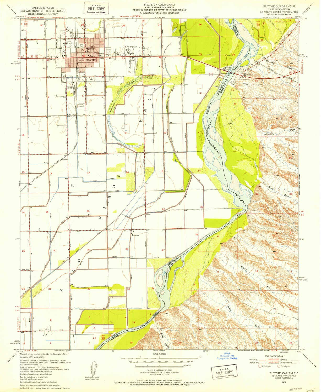 Amazon Com Yellowmaps Blythe Ca Topo Map 1 24000 Scale