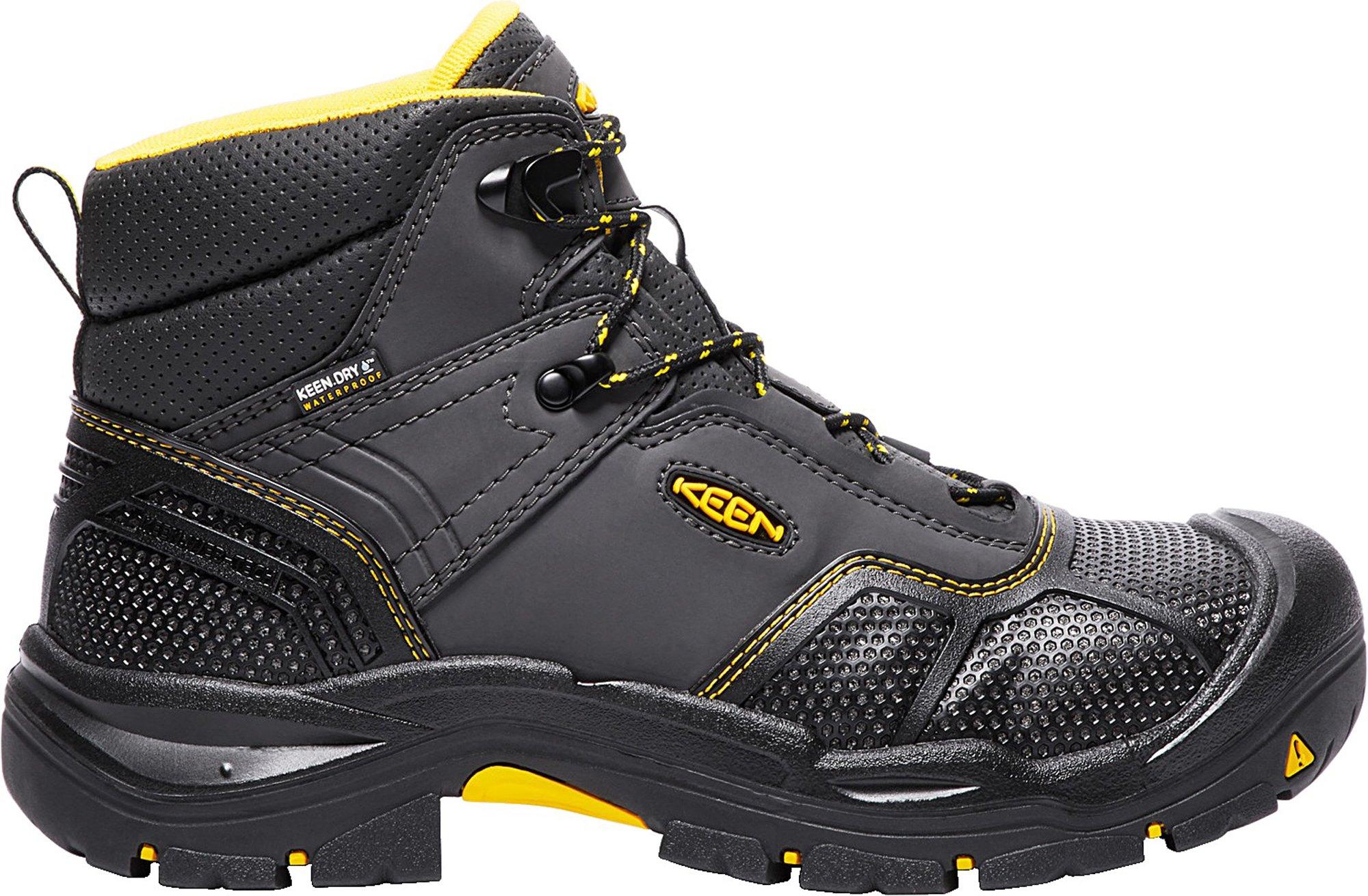KEEN Utility Men's Logandale (Steel Toe) Waterproof Work Boot, Raven/Black, 15 D