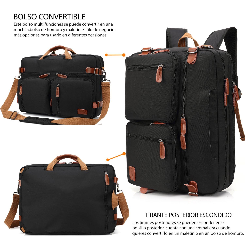 CoolBELL Bolso de hombro convertible en mochila para guardar ordenadores portátiles Maletín de negocios. Mochila de viaje para guardar ordenadores ...