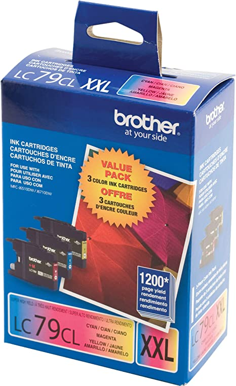 Amazon.com: Brother Impresora LC793PKS 3 Pack- 1 Cada LC79 C ...