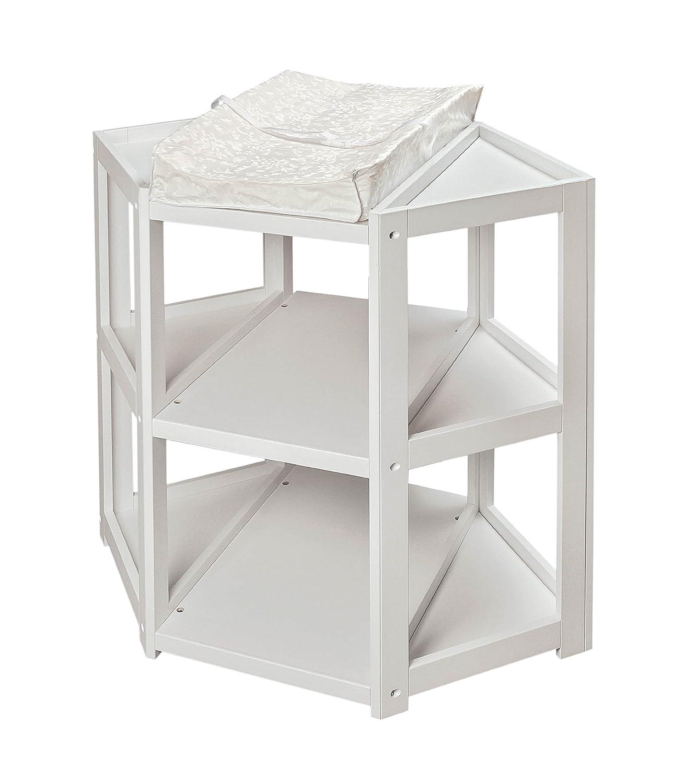 Amazoncom Badger Basket Diaper Corner Changing Table White Baby