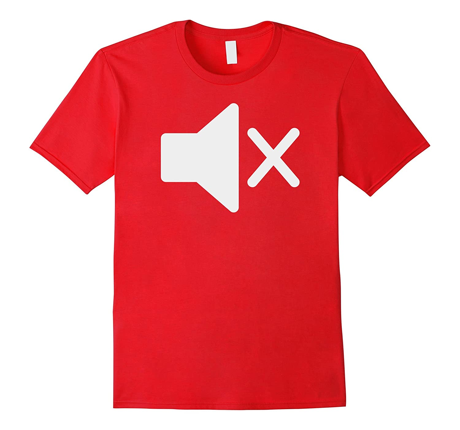 Mute Symbol Tee - Funny Tee for Deaf Mute or Introverts-FL