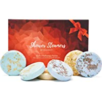 Cleverfy Aromatherapy Shower Steamers - Variety Set Of 6x Shower Bombs With Essential Oils For Relaxation. Shower Bomb…
