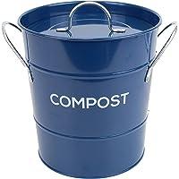 Cubo de compostaje de cocina de metal para el reciclaje de residuos de alimentos