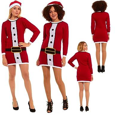 Womens Ladies Party Christmas Xmas Jumper Dress Seasonal Winter ...