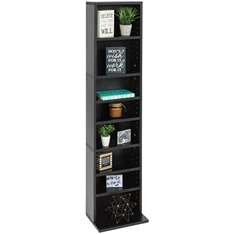 f38aca6116eb Best Choice Products 8-Tier Media Console Shelf Storage Organization  Cabinet Tower Bookcase for CDs, DVDs, Video Games, Books with Adjustable  Shelves ...