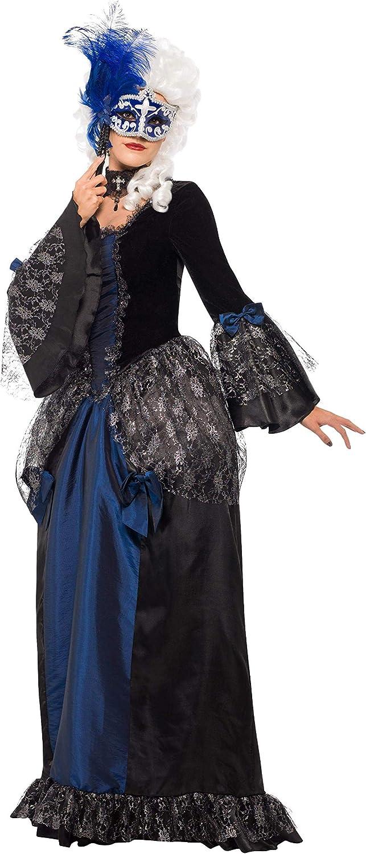Smiffys-25438L Disfraz de baile de máscaras barroco y con vestido ...