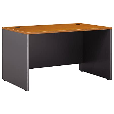 Bush Business Furniture Series C Collection 48W x 30D Shell Desk in Natural Cherry