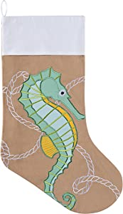 "C&F Stocking - Seahorse - Tropical Decor 8.5"" X 20"""
