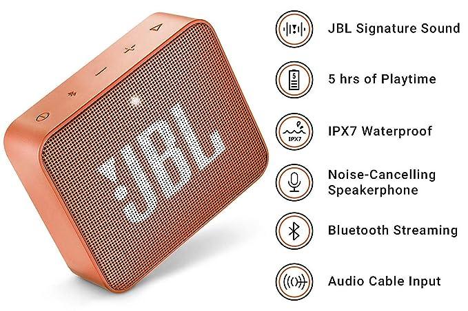 JBL GO 2, Altavoz Inalámbrico portátil con Bluetooth, Inalámbrico ...