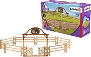 SCHLEICH Horse Club Paddock with Entry Gate 10-Piece Educational Playset for Kids Ages 5-12