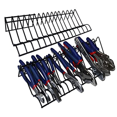 Mamilo Plier Organizer Rack, 2 Pack, Stores Spring Loaded, Regular and Wide Handle Insulated Pliers, Tool Box Storage and Organization Holder Fits Nicely in Your Toolbox
