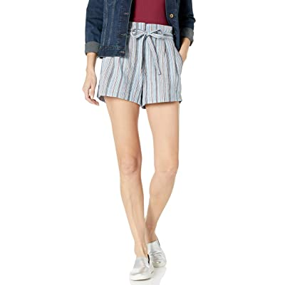 BCBGMAXAZRIA Women's Renee Belted Striped Shorts: Clothing