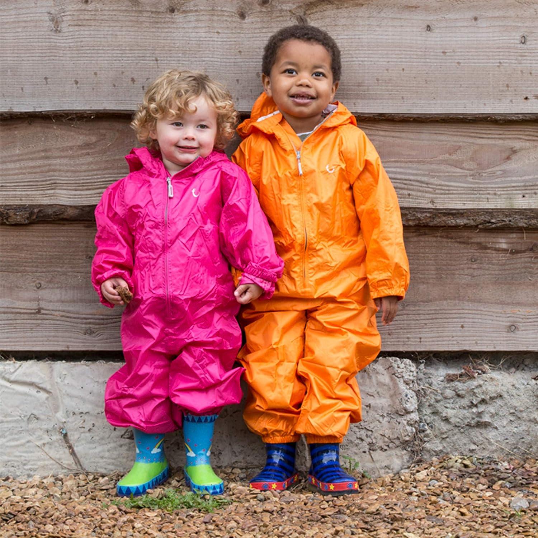 Hippychick Unisex Kids Waterproof Packasuit All in One Suit Pink Peacock