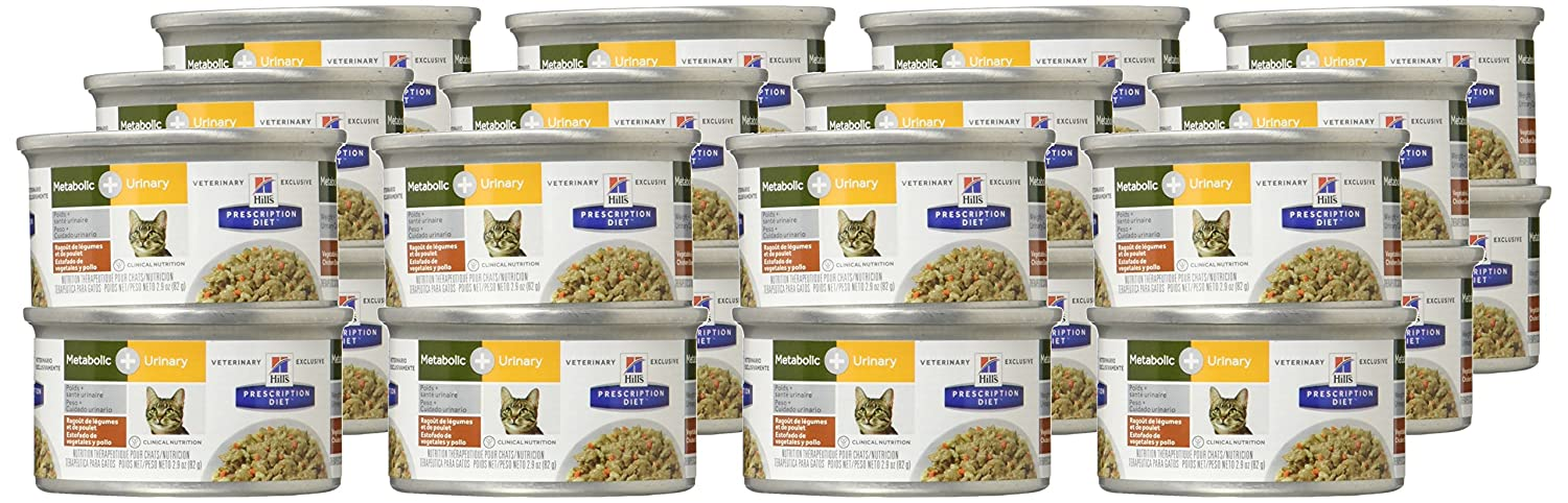 Amazon.com : Hills Prescription Diet Metabolic + Urinary Feline - Vegetable and Chicken Stew - 24X2.9Oz : Pet Supplies