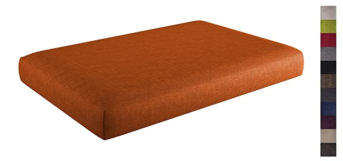 sunnypillow Palettenkissen mit abnehmbarem Bezug Kaltschaum Palettenauflage Palettenpolster Palettensofa Sitzkissen Rückenleh