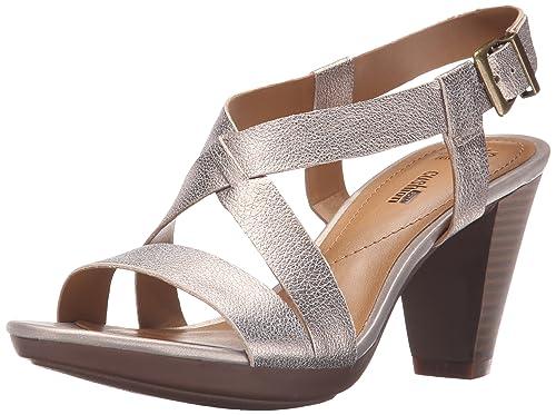 Clarks Women's Jaelyn Fog Dress Sandal, Gold, ...