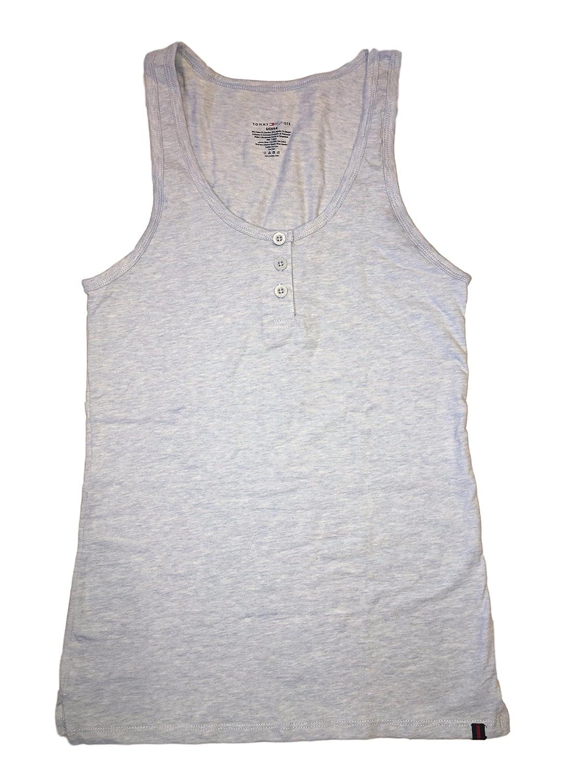322482529ad9 Amazon.com  Tommy Hilfiger Ladies Henley Tank Top 95% Cotton 5% Spandex  (Large (10-12)