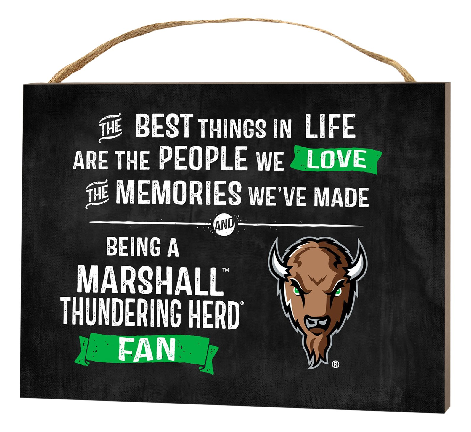 KH Sports Fan 4''X5.5'' Marshall Thundering Herd Best Things Small College Plaque