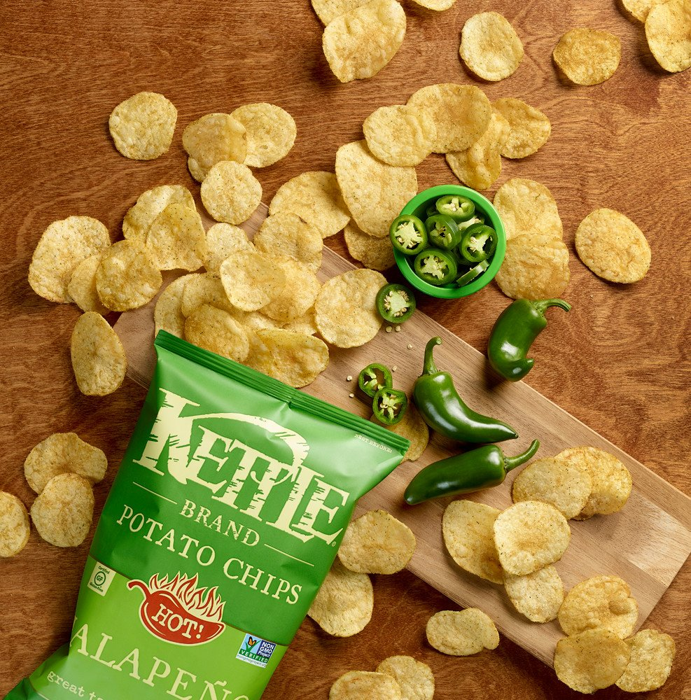 Kettle Brand Potato Chips, Jalapeno, 1.5 oz by KETTLE FOODS (Image #4)