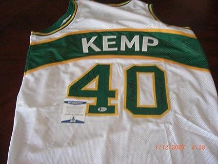 b122500166535 Shawn Kemp Autographed Jersey - Sonics reign Man posterized ...