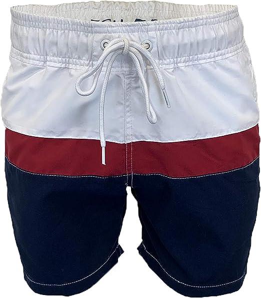 TALLA M. Crosshatch Makins Ch Side/Back Print SWM Shorts para Hombre