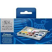 Aquarela Em Pastilha Cotman Pocket Box Estojo com 12 Cores Ref.0390640 Winsor e Newton
