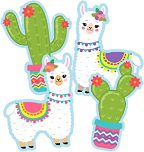 Llama Cactus Cutouts - Birthday Party Decorations or Supplies for Kids Classroom - 20 PCS