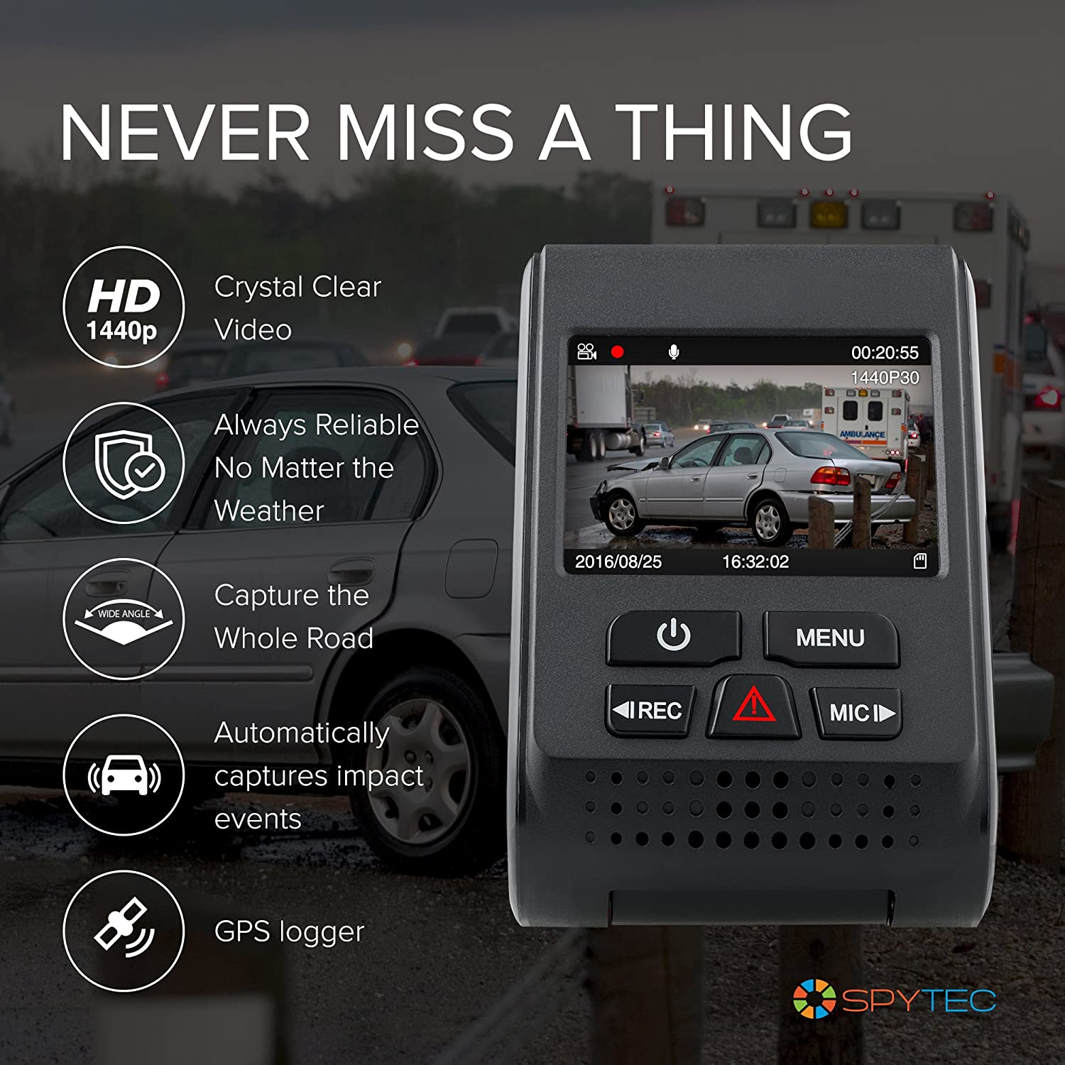 Spytec A119 Version 2 Car Dash 60 Fps 1440p Camera With Profile Blade Fuse Tap Holder Add A Circuit Line Japanese Ebay Gps Logger Mount G Sensor Wide Angle Lens And Low Light Recording Photo