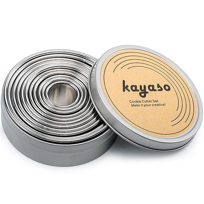 8 opinioni per Kayaso rotondi per biscotti, in acciaio INOX, set di 11 PC