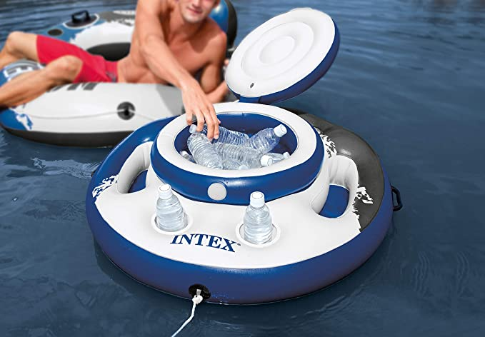 Intex 56822NP - Nevera hinchable Mega Chill, River Run, diámetro 89 cm