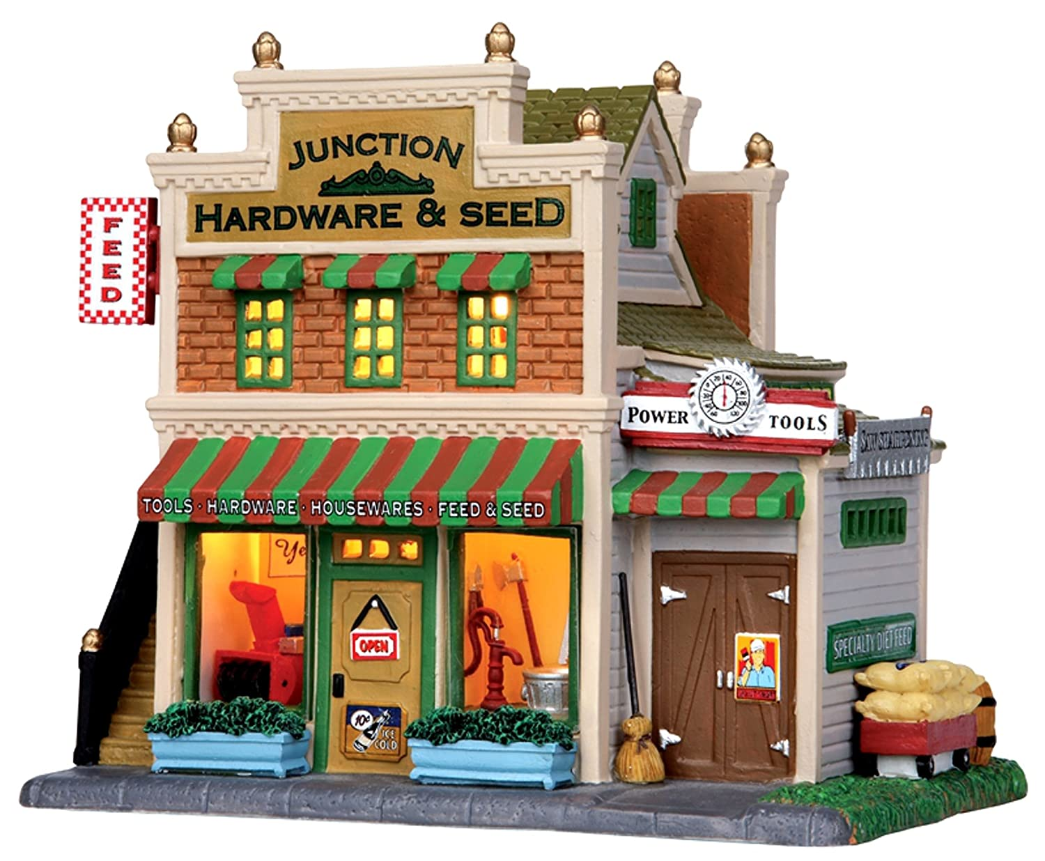 Lemax 15266 JUNCTION HARDWARE & SEED Harvest Crossing Building Christmas Decor